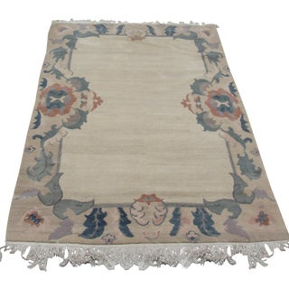 Sculpted Woven Alpaca Wool Area Rug - 4' x 6'