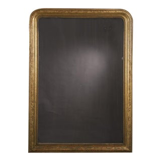 Huge Antique Louis Philippe Style Gold Leaf Mirror, circa 1890 (49″w x 68″)