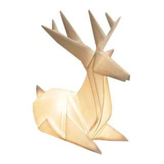 Luminous Origami Reindeer Lamps - Pair