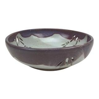 Studio Pierced Stoneware Fruit Bowl