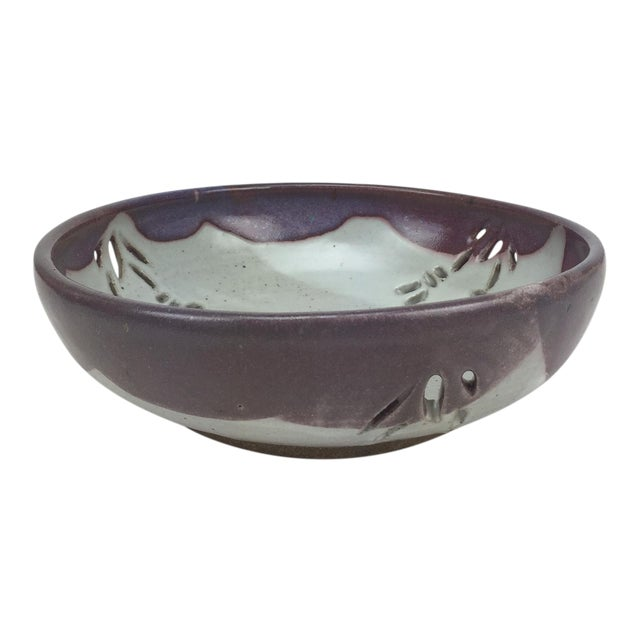 Studio Pierced Stoneware Fruit Bowl - Image 1 of 9