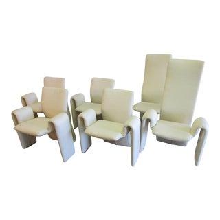 Steve Leonard for Brayton International White Dining Chairs - S/6