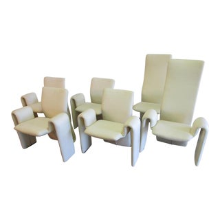 Steve Leonard for Brayton International White Dining Chairs - S/6