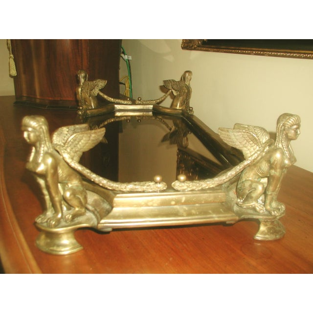 Early 1900's Bronze Mythological Mirrored Plateau - Image 6 of 8