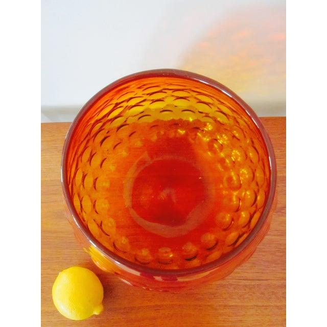 Blenko Bubble Glass Amberina Sandblasted Sig Vase - Image 10 of 11