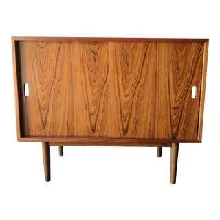 Mid Century Rosewood and Mahogany Small Cabinet By Hille