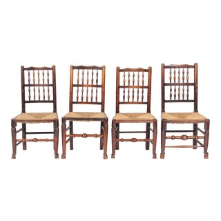 19th-C. Antique English Dining Chairs - Set of 4
