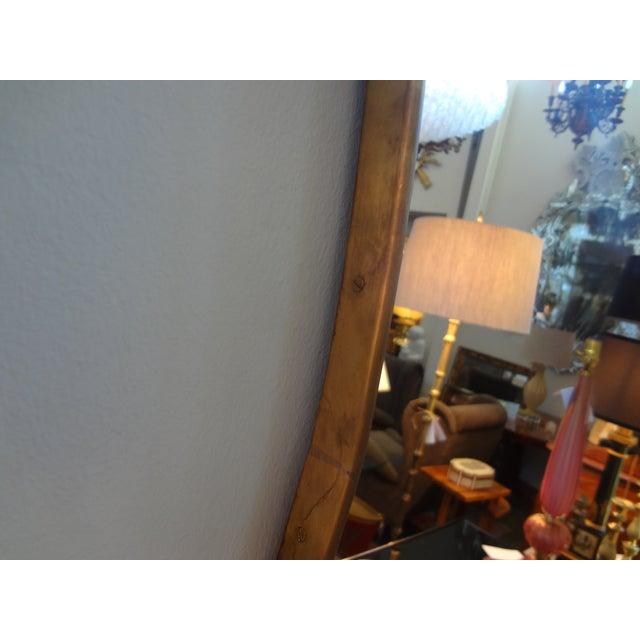Italian Gio Ponti Inspired Brass Mirror - Image 4 of 7