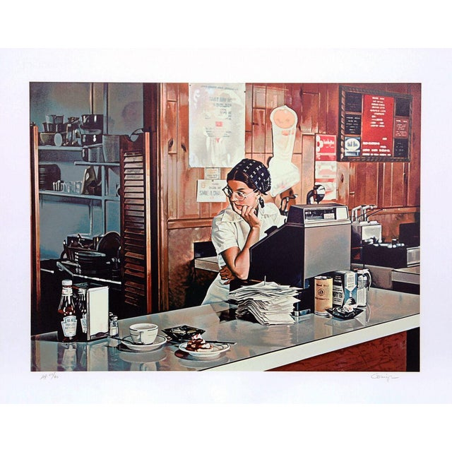 """Image of Ralph Goings, """"One-Eleven Diner,"""" Lithograph"""