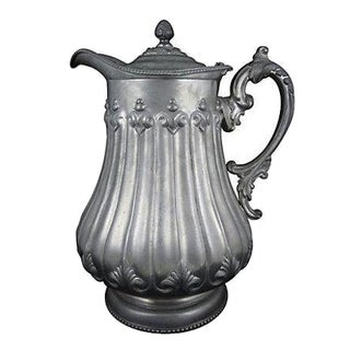 Oversize Silver Plate Water Pitcher