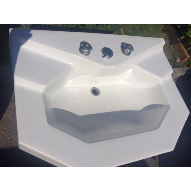 vintage jacob delafon pedestal sink chairish. Black Bedroom Furniture Sets. Home Design Ideas