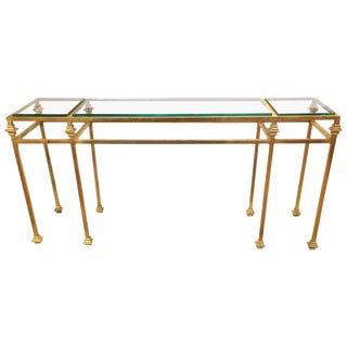Giacometti Style Gilt Iron Console Table