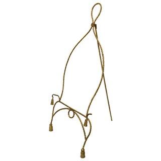 Mid Century Italian Gilt Rope & Tassle Easel