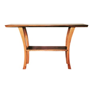 Walnut & Maple Live Edge Console Table
