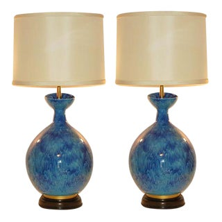 Marbro Huge Italian Ceramic Lamps