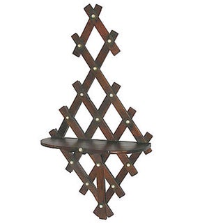 Arts & Crafts Fretwork Wall Shelf