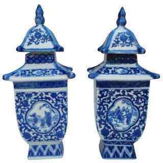 Chinese Pagoda Vases - A Pair