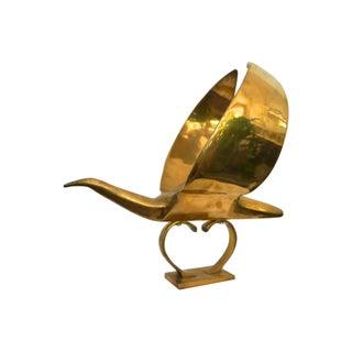 Art Deco Style Brass Bird