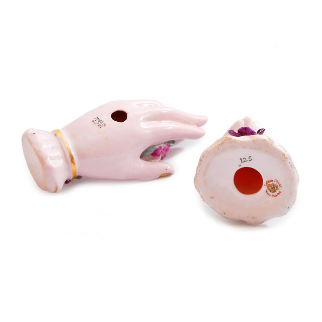 Pink Porcelain Hand Ring Holders- A Pair - Image 4 of 4