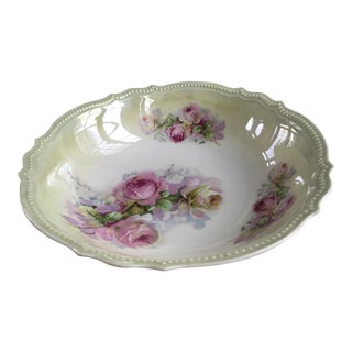 Early 20th C Porcelain Rose Bowl