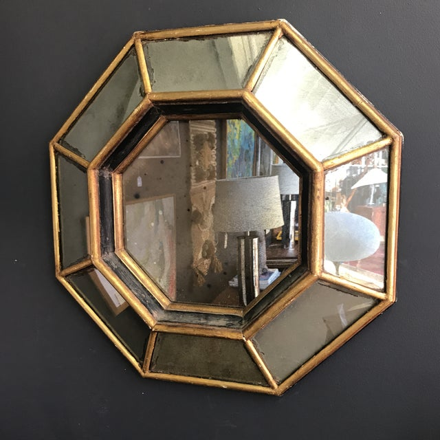 Vintage Octagonal Faceted Mirror - Image 5 of 5
