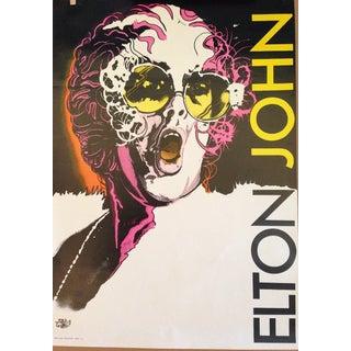 Original Vintage Polish Elton John Poster