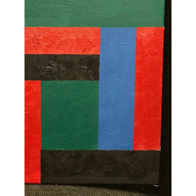 Vintage Adam Kubach Geometric Abstraction Painting - Image 3 of 7