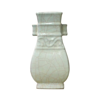 Chinese Ru Ware Light Celadon Ceramic Color Vase cs2597