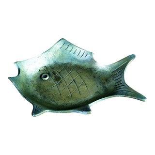 Modernist Brass Fish Tray