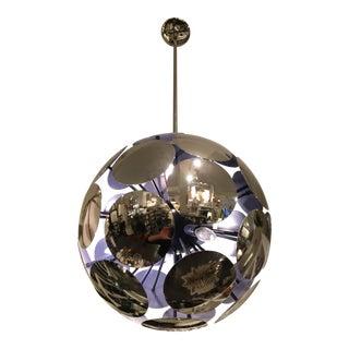Polished Nickel Discs Sphere Pendant