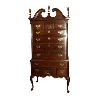 Ethan Allen Knob Creek Collection Queen Anne Solid Cherry Highboy Dresser