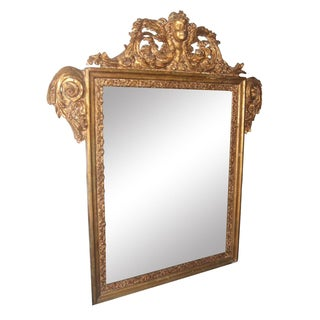 Antique Italian Gilt Cherub Mirror