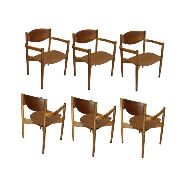 Vintage Jens Risom Stacking Chairs - Set of 6 - Image 1 of 6