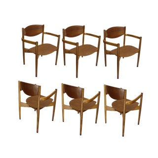 Vintage Jens Risom Stacking Chairs - Set of 6