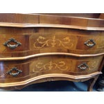 Image of Antique 1800s French Wooden Secretary Desk