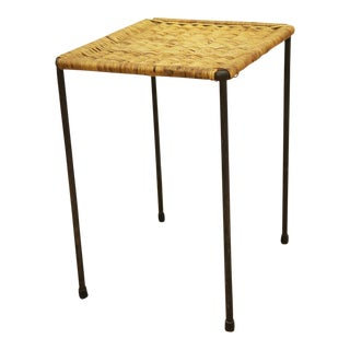 Rattan side table by Carl Auböck