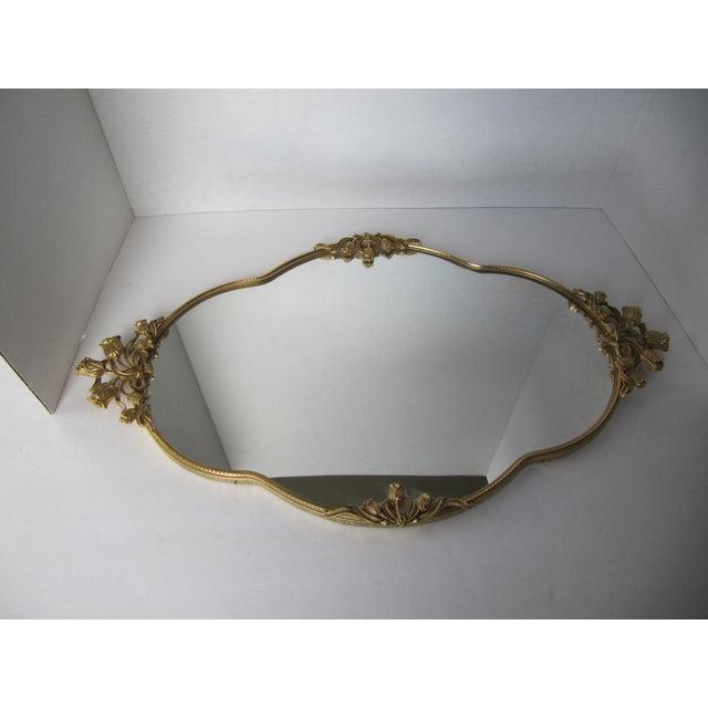 Mid-Century Tulip Mirrored Vanity Tray - Image 3 of 8