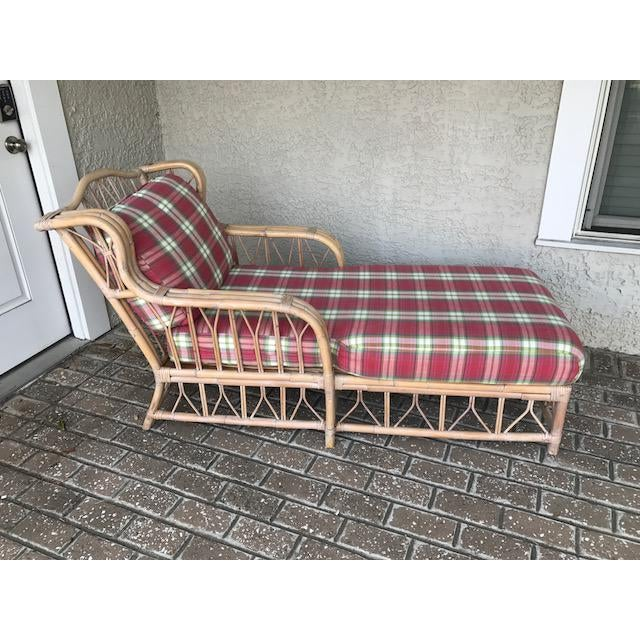 Vintage Wicker & Rattan Chaise - Image 2 of 7