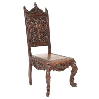 Hand Carved India Tribal Chair