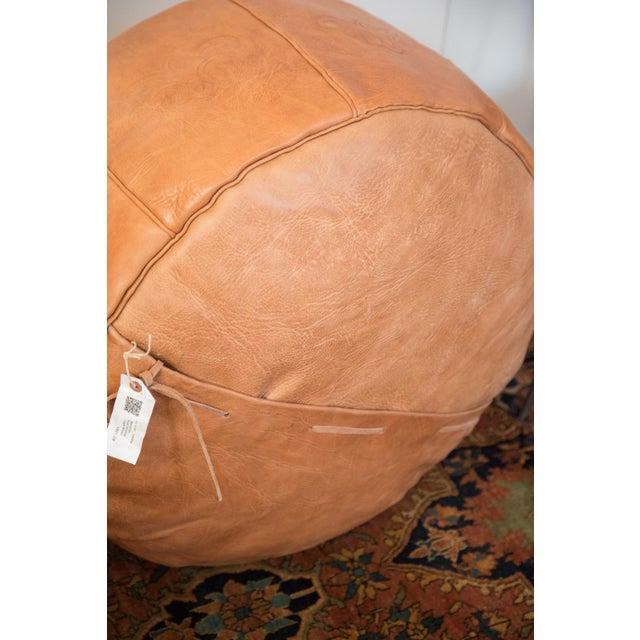 Antique Camel Leather Moroccan Pouf Ottoman Chairish