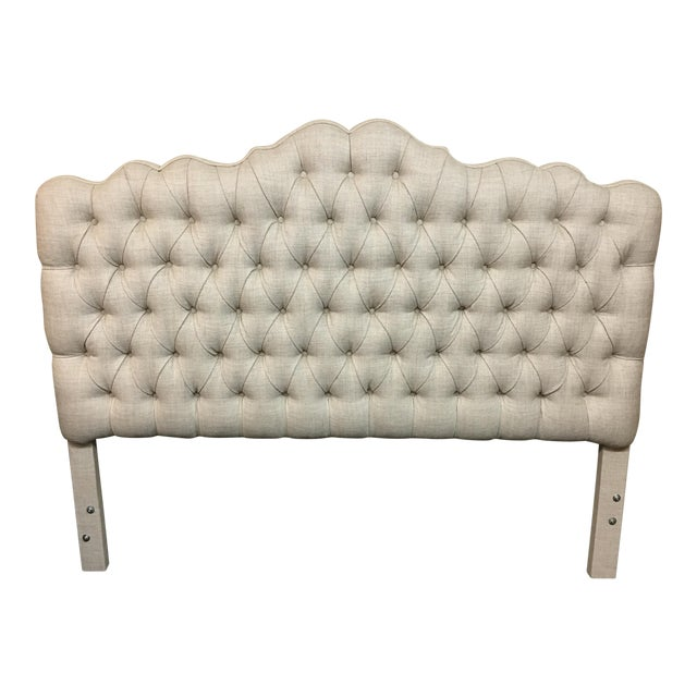 Tufted Linen Full Size Headboard - Image 1 of 6