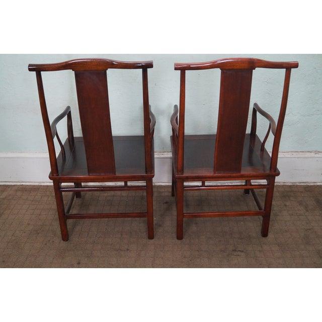 Baker Asian Mahogany Dining Chairs - Set of 8 - Image 10 of 10