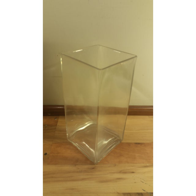 Rectangular Glass Vase - Image 4 of 5