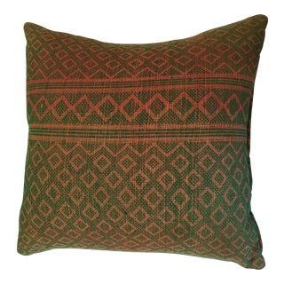Vintage Multicolored Textile Pillow