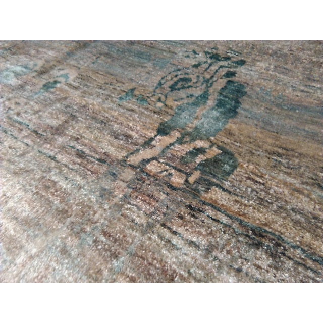 """Abstract Hand-Knotted Rug - 8′ × 9′11"""" - Image 6 of 10"""