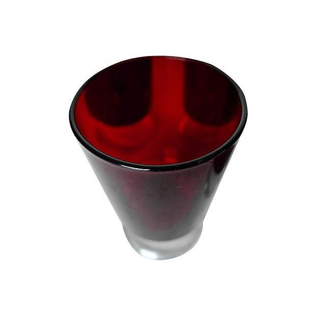 Image of 1960's Cranberry Glass Cordial Glasses - Set of 5