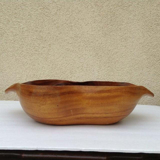 Vintage Carved Wood Monkey Pod Bowl - Image 5 of 11