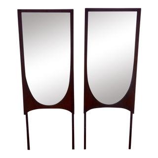 Broyhill Brasilia Walnut Mirrors - A Pair