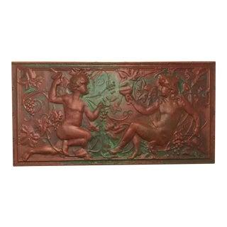 Victorian Copper Cherub Wall Panel