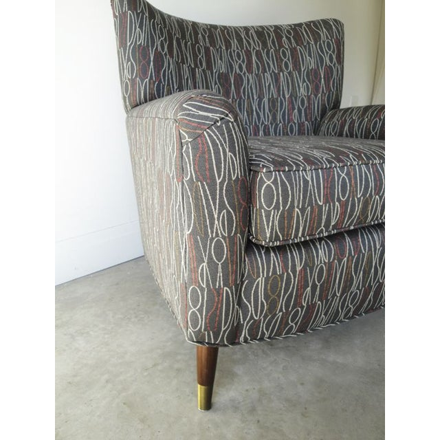 Brown Retro Print Modern Lounge Chair - Image 6 of 6